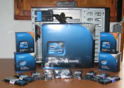 Componentes usado para la workstation Ibero 9150 IT