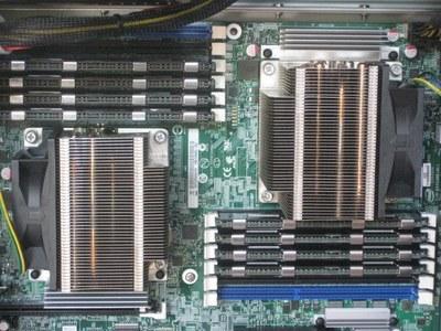 Detalles de la dos CPU XEON 5650 Six Cores de la workstation Ibero 9150 IT
